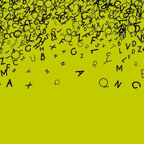 Sfondo per la parola dell'anno : lettere che si sovrappongono